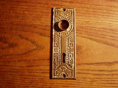 Antique Eastlake Victorian cast ironDoor Knob Back Plate