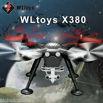 Wltoys XK X380 Professional RC Drones Quadcopter GPS Camera Shock Absorp Black