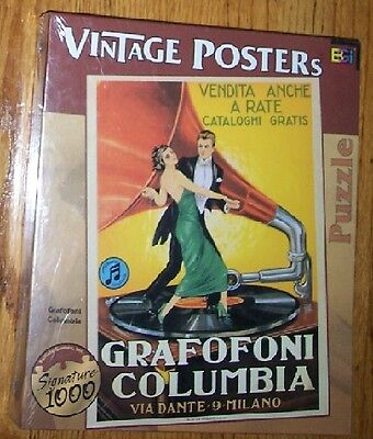 Vintage Poster Puzzle Grafofoni Columbia Phonograph 1026 Pc. Sealed,,LAST ONE