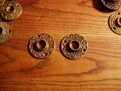 pair  ANTIQUE VINTAGE EASTLAKE VICTORIAN CAST Bronze rosetttes