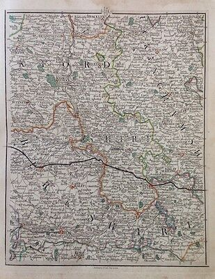 Oxfordshire 1794 Cary's Antique Map Henley Hungerford Great Marlow Winslow