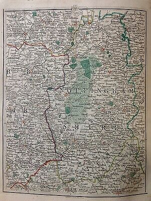 Nottinghamshire 1794 Cary's Antique Map Chesterfield Derby Sheffield Rotherham