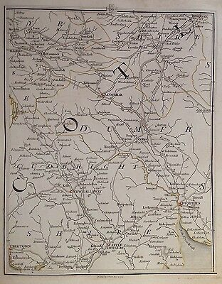 Scotland 1794 Cary's Antique Map Dumfries Castle Doulas Cree Town Biggar Kells