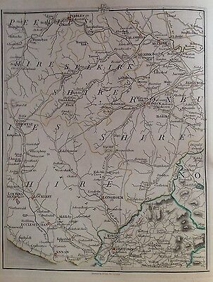 Scotland 1794 Cary's Antique Map Lockerby Hawick Selkirk Jedburgh Galashiels