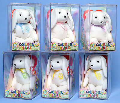 TY Beanie Baby - COLOR ME BEANIE *Bunny* (Complete Kit)(Random Ribbon Color