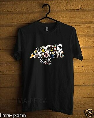 ARCTIC MONKEYS US Rock Band Black T-shirt for Man Size S-2XL