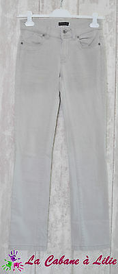 ♥ Jeans Gris IKKS Taille 26 ♥ N276