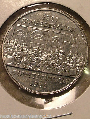 WOW!!! 1867 1982 Canada Nickel One Dollar Canadian $1 Confederation Constitution