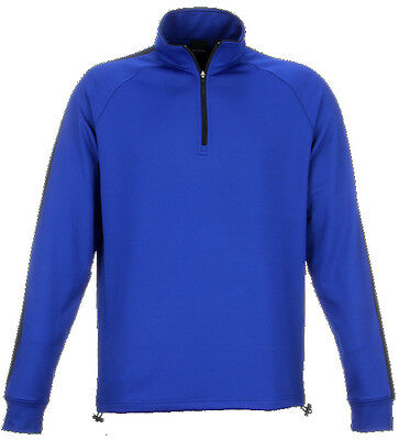 Dunning Thermal Stripe 1/4 Zip Spaceman/Halo Large - mens golf outerwear