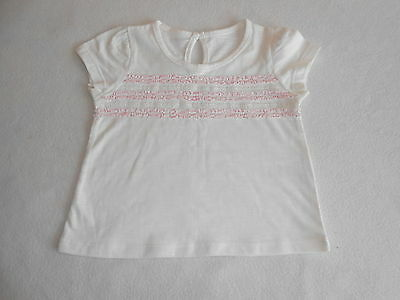 Baby Girls Clothes 3-6 Months - Pretty Cream T Shirt Top -New -