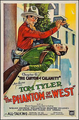 The Phantom Of The West Chapter 6 One Sheet 1931 Poster Rolled Unfolded Vf-7.5