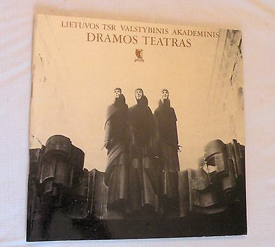 1985, Lietuvos TSR Valstyvinis..Lithuanian State Academic Drama Theater booklet