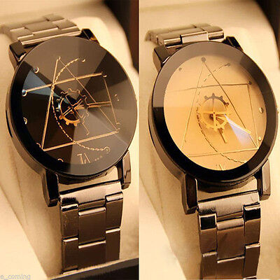 Luxury Men Women Watches Compass Stainless Steel Quartz Analog Wrist Watch New