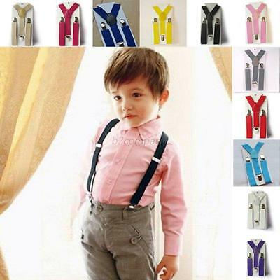 Fashion Adjustable Baby Kids Girls Boys Clip-on Suspender Elastic Y-back Braces