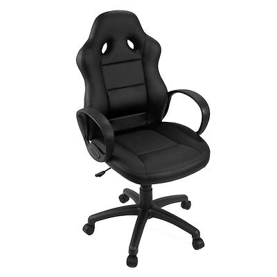 Black Office Chair Luxury Swivel High Back PU Leather Executive Racing Chairs