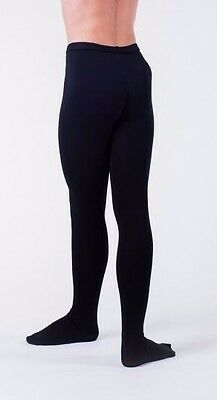 Mens Wear Moi Black footed Ballet Dance Tights New Large