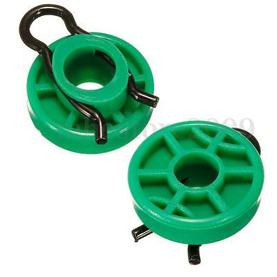 Pair Green Front Window Regulator Guide Rollers For Saab 9-3, 9-5, 900 #4493433