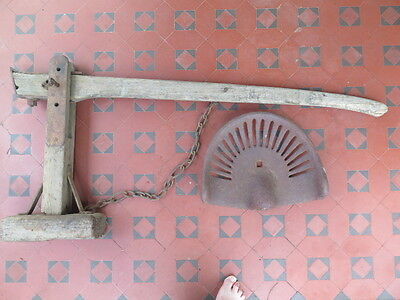 BLACKSMITH MADE CART or HORSE WAGGON or DRAY LEVER & FULCRUM JACK