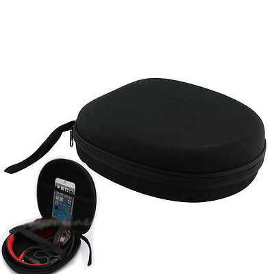 Black Carrying Hard Case Bag box protector For Technica Sony headset Headphone