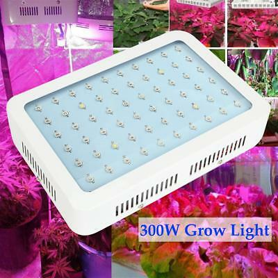 Dimmable 300W Full Spectrum LED Grow Light Hydro Plant Bloom Indoor Panel Lamp