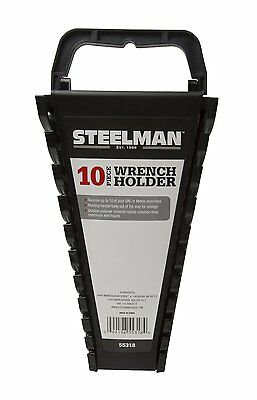 STEELMAN 55318 Metric Wrench Holder,Holds up to 10 wrenches,Carrying handle AOI