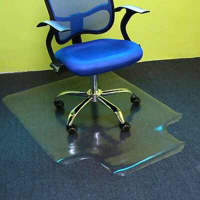 Carpet Office Home Chair Mat Floor Vinyl Protector Frosted PVC Plastic 90x120cm