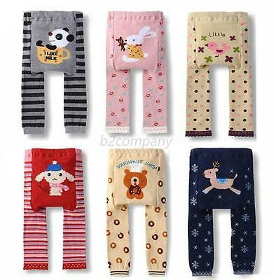 Baby Kids Boys Girls Autumn Cotton Leggings Soft Trousers Pants Animal Printed
