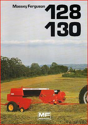 Brochure Leaflet Tracteur Tractor Massey Ferguson MF 128 130 8 pages