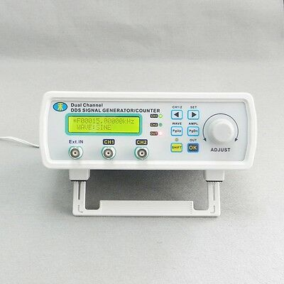 25MHz DDS Dual Channel Function Signal Generator Waveform Frequency Meter Sweep