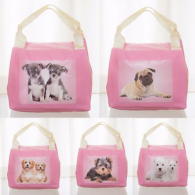 Kids Thermal Insulated Lunch Bag, Cute Puppy Dogs, 5 designs, School Lunch Box