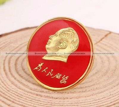 2cm Chinese Asian Communist China Political Metal Pin Chairman Mao Zedong