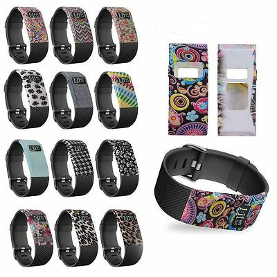 Hellfire 13 Patterns Band Cover Shockproof Sleeve Soft Case For Fitbit Charge HR