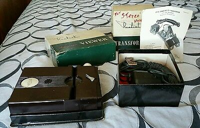 Vintage David White Realist St-61 Stereoscopic Viewer & St-70 Transformer Outfit