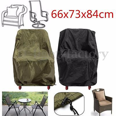 Waterproof High Back Chair Rain Cover Outdoor Patio Garden Furniture Protection