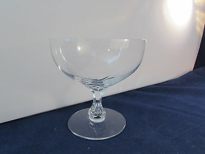 SET OF SIX - Orrefors Crystal CORONATION Saucer Champagnes