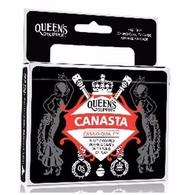 1 x Queens NEW Canasta DOUBLE DECK Casino Quality Playing Cards AU Made 54516*