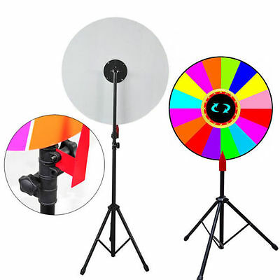 "24"" Color Prize Wheel of Fortune Spinning Game TradeShow+Tripod Floor Stand USA"