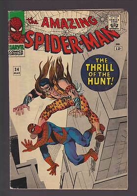 Amazing Spider-Man # 34  The Thrill of the Hunt !  grade 4.0 scarce book !