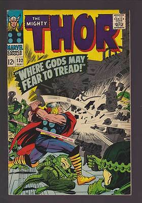 Thor # 132  First appearance  Ego the Living Planet !  grade 6.0 scarce book !