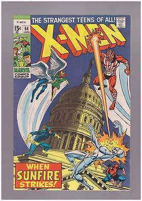 X-Men # 64  First Appearance of Sunfire !  grade 8.0 scarce book !