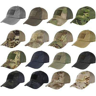 b7afa282bc7 Condor - Tactical Cap with Mesh Back - Choice of 10 Colors or Camoflage  TCM