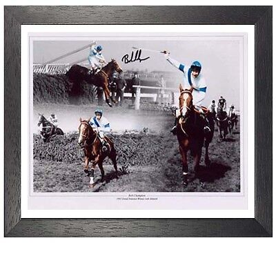Bob Champion Framed Signed Photo - 1981 Grand National