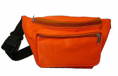 Neon Orange 80's Fanny Pack Waist Carrier Costume Accessory