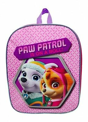 Paw Patrol 'on A Roll' School Bag Rucksack Backpack Brand New Gift