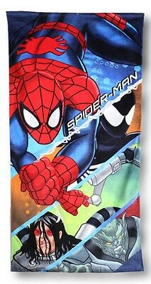 Ultimate Spiderman 'Action' Printed Beach Towel Brand New Gift
