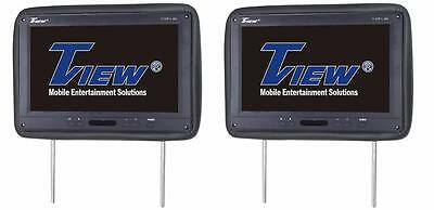 """Tview T122PL Pair of 12.1"""" TFT LCD Car Headrest Monitor w/ IR Transmitter"""