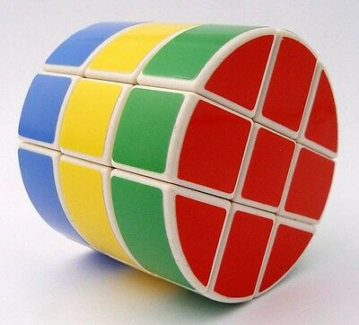 New DIAN SHENG Black/White Cylinder Magic Cube Twist Puzzle Educational Toy Game