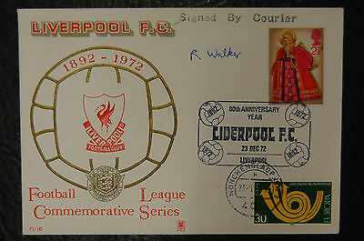 R Walker Liverpool Signed Philatelic Promotions 1971-73 Club Postal Cover