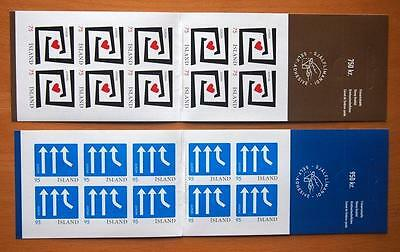 Iceland 2006 Europa Integration  Stamp Booklets- 2 Different Booklets