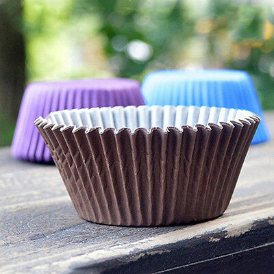 100Pcs Paper Cake Cupcake Liner Case Party Baking Muffin Cup Cas Retro